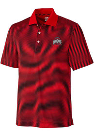 Ohio State Buckeyes Cutter and Buck Trevor Polo Shirt - Red