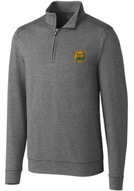 Baylor Bears Cutter and Buck Shoreline 1/4 Zip Pullover - Charcoal