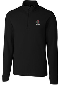 Ohio State Buckeyes Cutter and Buck Alumni Advantage Mock 1/4 Zip Pullover - Black