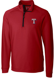 Texas Rangers Cutter and Buck Jackson 1/4 Zip Pullover - Red