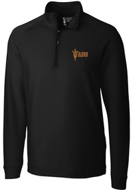 Arizona State Sun Devils Cutter and Buck Jackson 1/4 Zip Pullover - Black