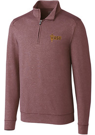 Arizona State Sun Devils Cutter and Buck Shoreline 1/4 Zip Pullover - Burgundy