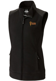 Arizona State Sun Devils Womens Cutter and Buck Cedar Park Vest - Black