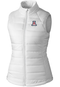 Arizona Wildcats Womens Cutter and Buck Post Alley Vest - White