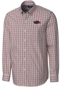 Arkansas Razorbacks Cutter and Buck Gilman Dress Shirt - Cardinal
