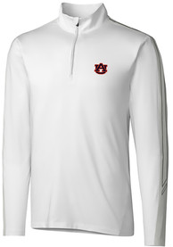 Auburn Tigers Cutter and Buck Pennant Sport 1/4 Zip Pullover - White