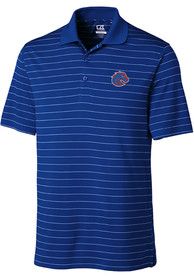 Boise State Broncos Cutter and Buck Franklin Stripe Polo Shirt - Blue