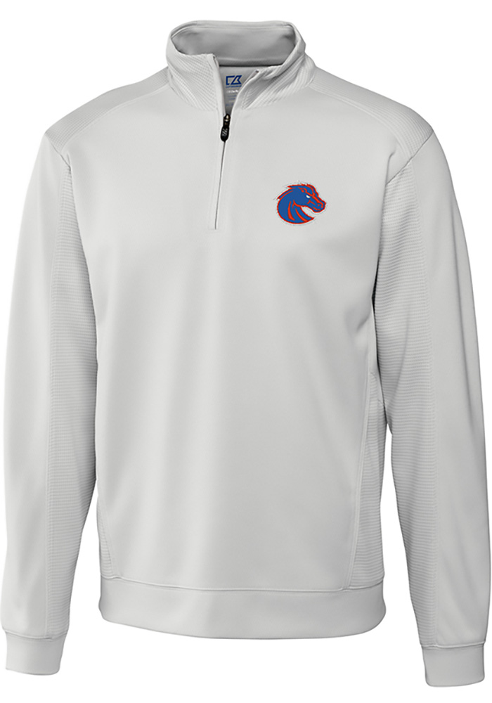 Boise State Broncos Cutter and Buck Edge 1/4 Zip Pullover - White