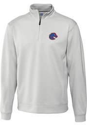 Cutter and Buck Boise State Broncos Mens White Edge Long Sleeve 1/4 Zip Pullover
