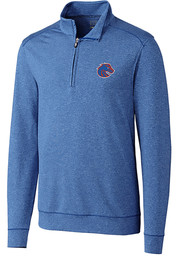 Cutter and Buck Boise State Broncos Mens Blue Shoreline Long Sleeve 1/4 Zip Pullover