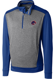 Boise State Broncos Cutter and Buck Replay 1/4 Zip Pullover - Blue