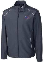 Cutter and Buck Boise State Broncos Mens Black Beacon Long Sleeve 1/4 Zip Pullover