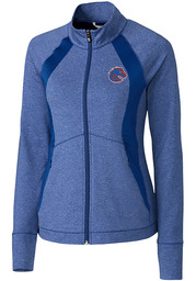Cutter and Buck Boise State Broncos Womens Blue Shoreline 1/4 Zip Pullover
