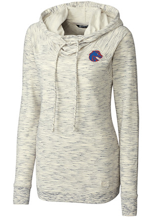 Cutter and Buck Boise State Broncos Womens White Tie Breaker Hoodie 7a144a08b8ab