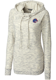 Boise State Broncos Womens Cutter and Buck Tie Breaker Hooded Sweatshirt - White