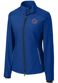 Boise State Broncos Womens Cutter and Buck Beacon Light Weight Jacket - Blue