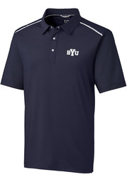 BYU Cougars Cutter and Buck Fusion Polo Shirt - Navy Blue