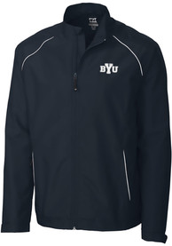 BYU Cougars Cutter and Buck Beacon 1/4 Zip Pullover - Navy Blue