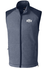 BYU Cougars Cutter and Buck Cedar Park Vest - Navy Blue
