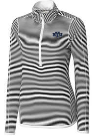 BYU Cougars Womens Cutter and Buck Trevor Stripe Full Zip Jacket - White