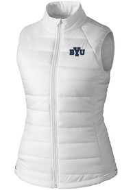 BYU Cougars Womens Cutter and Buck Post Alley Vest - White