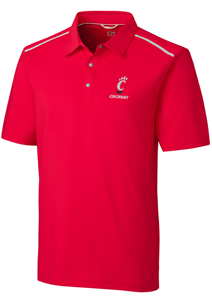 Cutter and Buck Cincinnati Bearcats Mens Red Fusion Short Sleeve Polo - Image 1