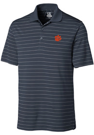 Clemson Tigers Cutter and Buck Franklin Stripe Polo Shirt - White