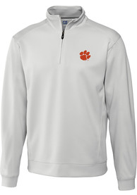 Clemson Tigers Cutter and Buck Edge 1/4 Zip Pullover - White