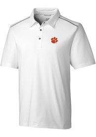 Clemson Tigers Cutter and Buck Fusion Polo Shirt - White