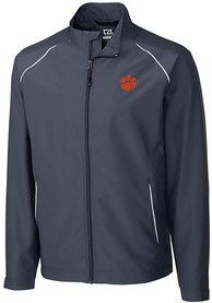 Clemson Tigers Cutter and Buck Beacon 1/4 Zip Pullover - Black