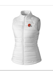 Cutter and Buck Cleveland Browns Womens White Post Alley Vest