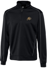Colorado Buffaloes Cutter and Buck Edge 1/4 Zip Pullover - Black