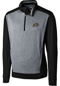 Colorado Buffaloes Cutter and Buck Replay 1/4 Zip Pullover - Black