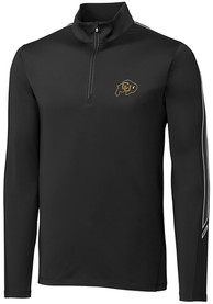 Colorado Buffaloes Cutter and Buck Pennant Sport 1/4 Zip Pullover - Black
