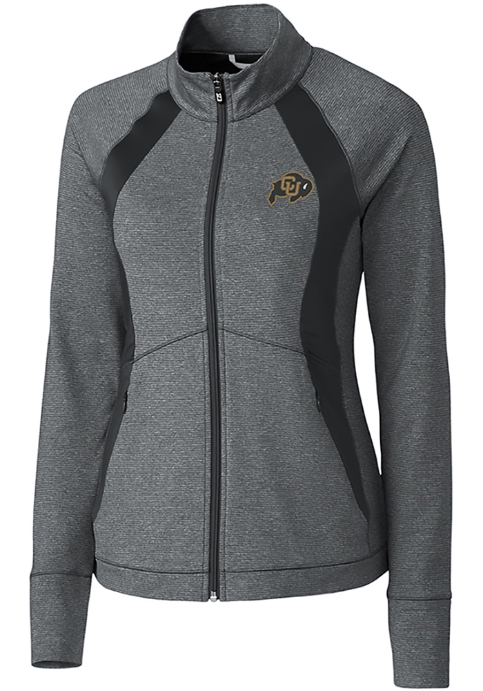 Colorado Buffaloes Womens Cutter and Buck Shoreline 1/4 Zip Pullover - Grey