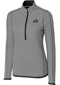 Colorado Buffaloes Womens Cutter and Buck Trevor Stripe Full Zip Jacket - Black
