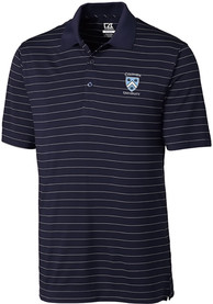 Columbia University Lions Cutter and Buck Franklin Stripe Polo Shirt - Navy Blue