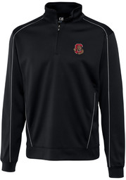 Cornell Big Red Cutter and Buck Edge 1/4 Zip Pullover - Black