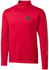 Cornell Big Red Cutter and Buck Pennant Sport 1/4 Zip Pullover - Red