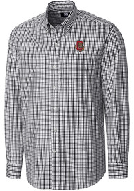 Cornell Big Red Cutter and Buck Gilman Dress Shirt - Black