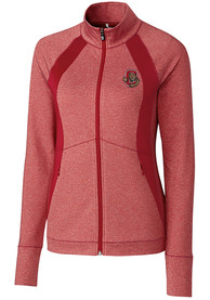 Cornell Big Red Womens Cutter and Buck Shoreline 1/4 Zip Pullover - Red