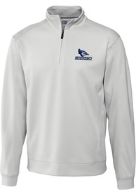 Creighton Bluejays Cutter and Buck Edge 1/4 Zip Pullover - White