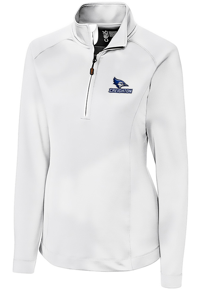 Cutter and Buck Creighton Bluejays Womens White Jackson 1/4 Zip Pullover - Image 1