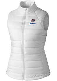 DePaul Blue Demons Womens Cutter and Buck Post Alley Vest - White