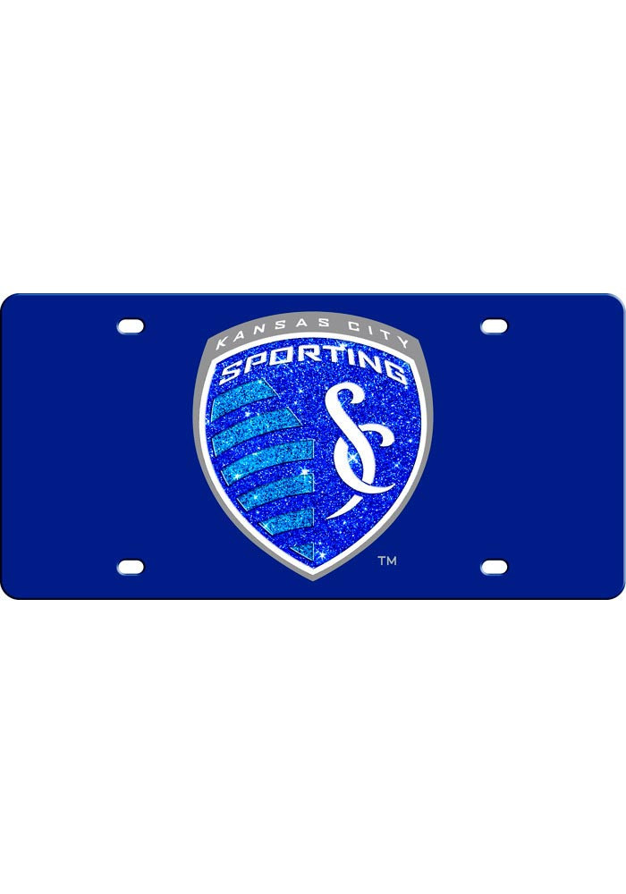 Sporting Kansas City Team Logo Glitter Car Accessory License Plate - Image 1