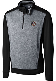 Florida State Seminoles Cutter and Buck Replay 1/4 Zip Pullover - Black