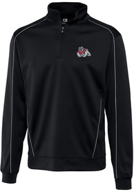 Fresno State Bulldogs Cutter and Buck Edge 1/4 Zip Pullover - Black