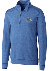 Fresno State Bulldogs Cutter and Buck Shoreline 1/4 Zip Pullover - Blue