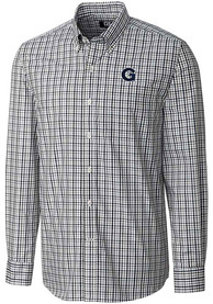 Georgetown Hoyas Cutter and Buck Gilman Dress Shirt - Navy Blue