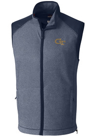 GA Tech Yellow Jackets Cutter and Buck Cedar Park Vest - Navy Blue